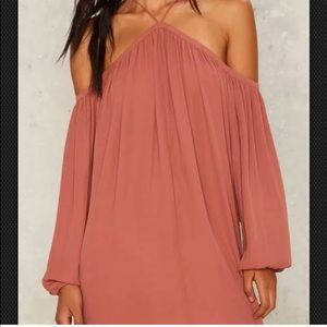 Nasty Gal cold shoulder dress